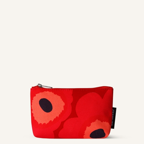 Eelia Pieni Unikko Cosmetic Bag, Red/Pink