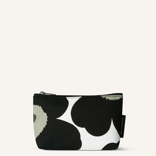 Marimekko Eelia Pieni Unikko Cosmetic Bag, White/Black