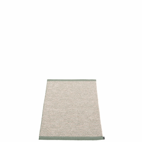 Pappelina Effi Plastic Rug - Army, 2' x 2 3/4'