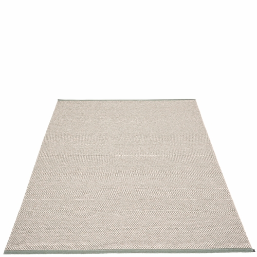Pappelina Effi Plastic Rug - Army, 7 1/2' x 10 1/2'