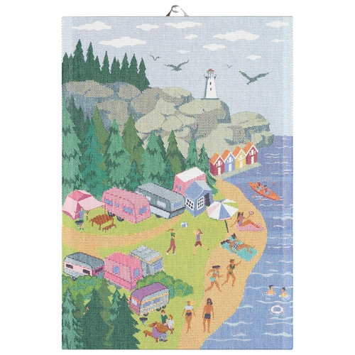 Ekelund Weavers Camping South Tea Towel, 14 X 20 Inches