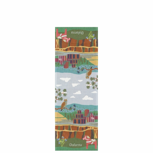 Ekelund Weavers Dalarna Landskap Table Runner, 14 x 39 inches