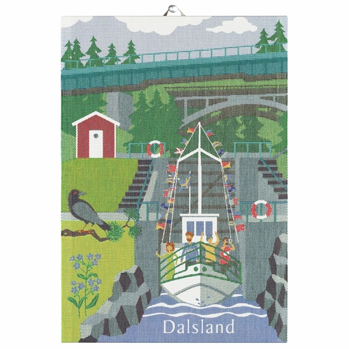 Ekelund Weavers Dalsland Landskap Tea Towel, 14 x 20 inches