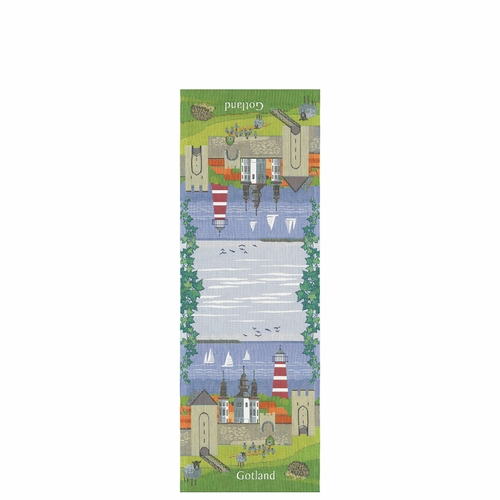 Ekelund Weavers Gotland Landskap Table Runner, 14 x 39 inches