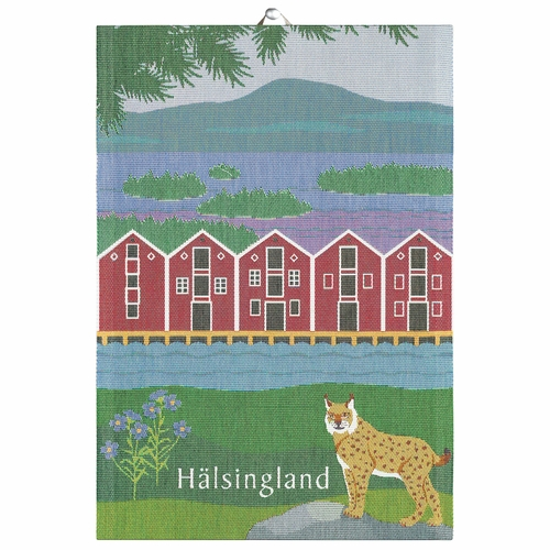 Ekelund Weavers Halsingland Landskap Tea Towel, 14 x 20 inches