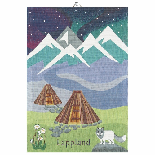 Ekelund Weavers Lappland Landskap Tea Towel, 14 x 20 inches