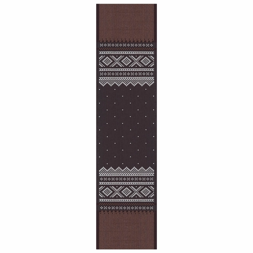 Ekelund Weavers Marius Table Runner, Brown/Black , 14 X 55 Inches