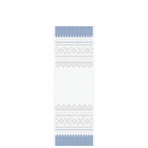 Ekelund Weavers Marius Table Runner, Grey/White , 14 X 39 Inches