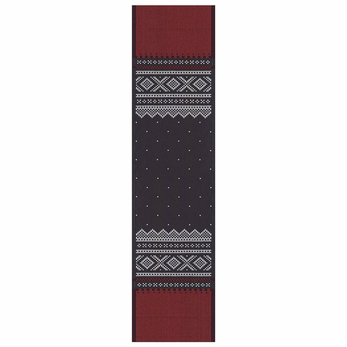 Ekelund Weavers Marius Table Runner, Red/Black , 14 X 55 Inches