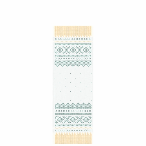 Ekelund Weavers Marius Table Runner, Yellow/Green , 14 X 39 Inches