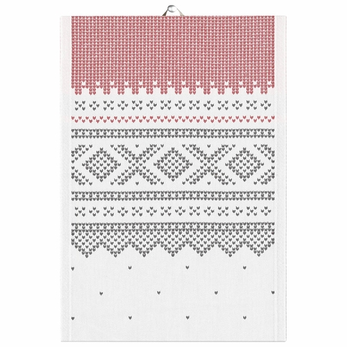 Ekelund Weavers Marius Tea Towel, Black/White , 14 X 20 Inches