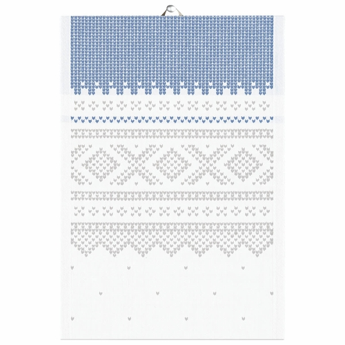 Ekelund Weavers Marius Tea Towel, Grey/White , 14 X 20 Inches