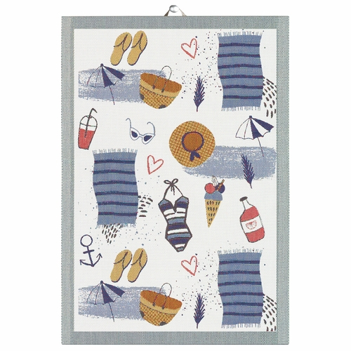 Ekelund Weavers Strandliv Tea Towel, 14 x 20 inches