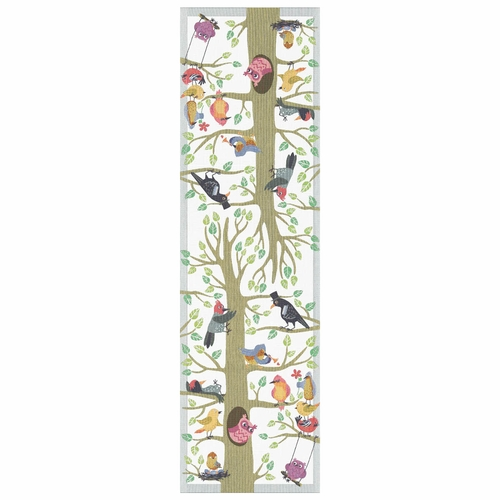 Ekelund Weavers Varfaglar Table Runner, 14 X 47 Inches