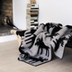 "Roros Tweed Elg (Moose) Wool Blanket, Grey/Black - 53"" x 79"""
