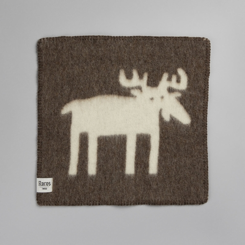 "Roros Tweed Elg (Moose) Wool Seating Pad, Brown/Natural - 18"" x 18"""