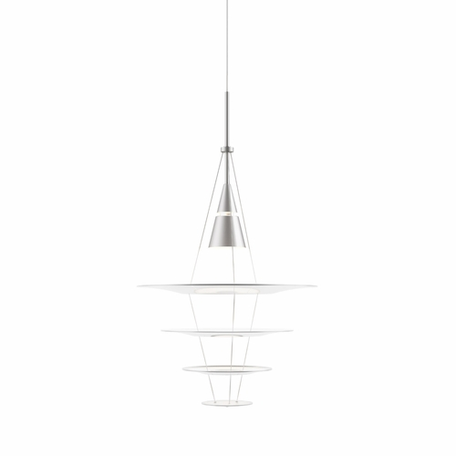 Louis Poulsen Enigma 425 Pendant Light, Brushed Aluminum