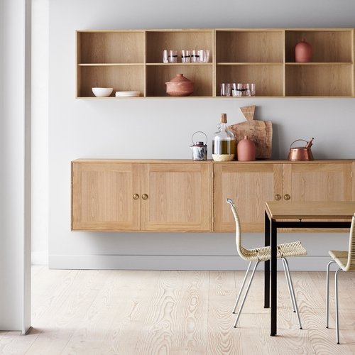 FK63 Two Cabinets and Two Bookcases, Oak