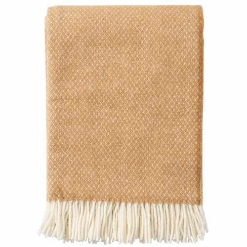 Klippan Flow Brushed Merino & Lambs Wool Throw, Amber