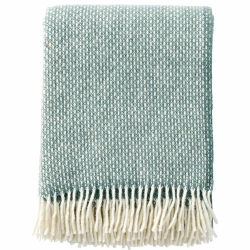 Klippan Freckles Brushed Lambs Wool Throw, Dusty Green