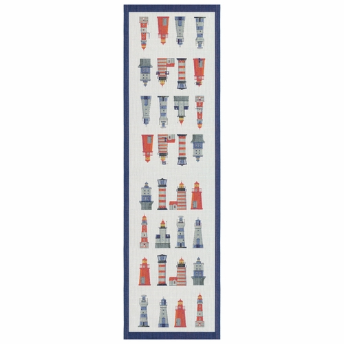 Ekelund Weavers Fyrar Table Runner, 14 x 47 inches