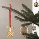 Georg Jensen 1990/2020 Christmas Mobile, Basket - Gold Plated
