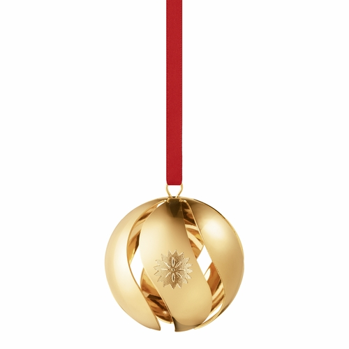 Georg Jensen 2020 Christmas Ball, Gold Plated