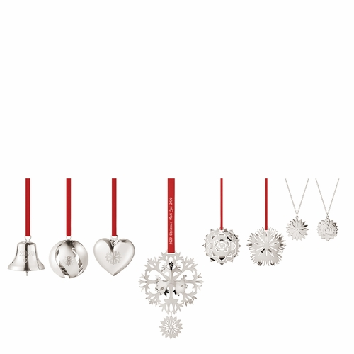 Georg Jensen 2020 Christmas Ornaments Gift Set of 8 - Palladium Plated