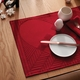 Georg Jensen Damask Christmas Rustic Placemat, Deep Red - Set of 2
