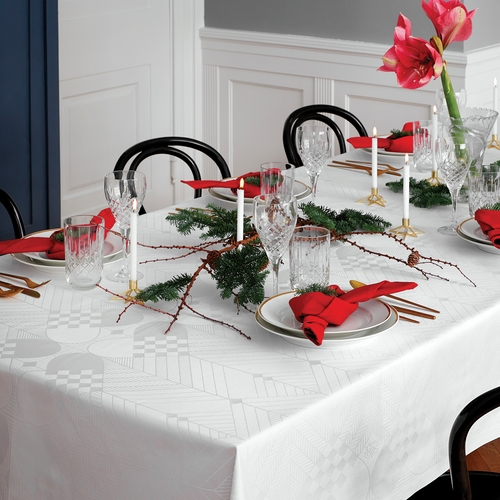 Georg Jensen Damask the Christmas Tablecloth, White