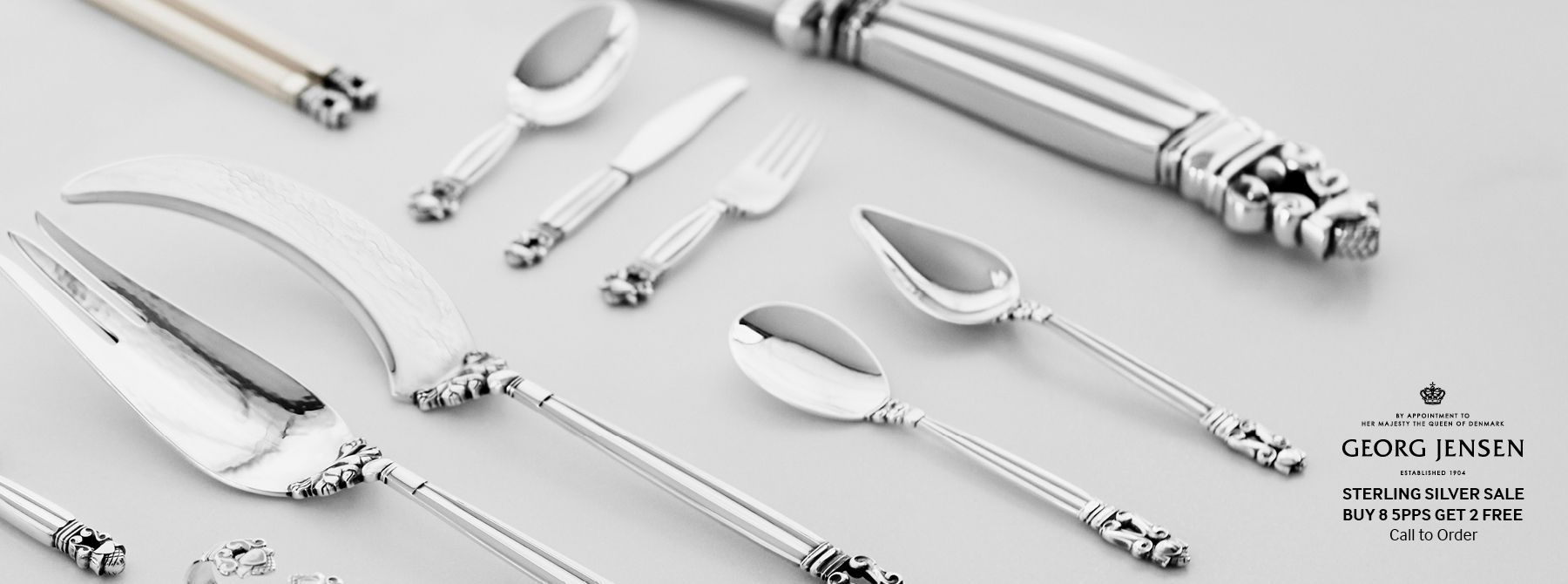 Georg Jensen Sterling & Steel Flatware