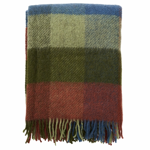 Klippan Brushed Gotland Wool Throw, Multi Green