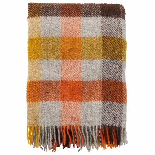 Gotland Brushed Gotland Wool Throw, Multi Yellow