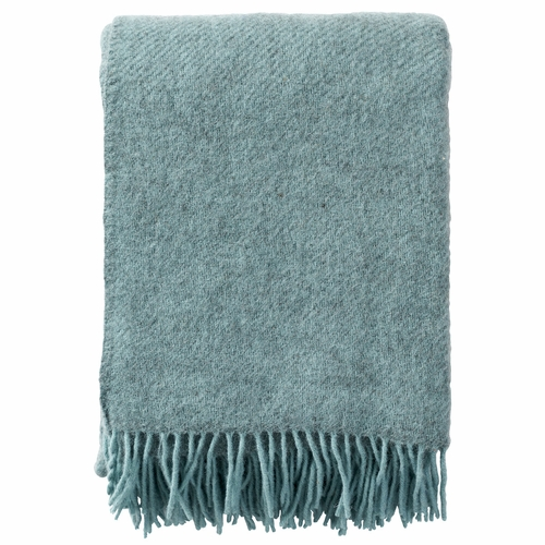 Klippan Brushed Gotland Wool Throw, Turquoise