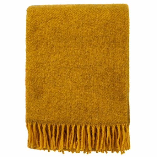 Gotland Brushed Gotland Wool Throw, Yellow