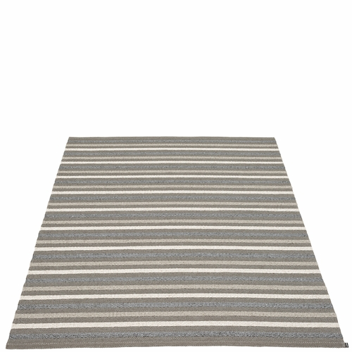Pappelina Grace Plastic Rug - Charcoal, 7 1/2' x 10 1/2'