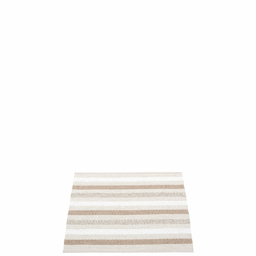 Pappelina Grace Plastic Rug - Fossil, 2 1/4' x 2'