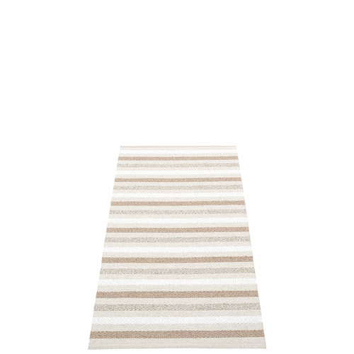 Pappelina Grace Plastic Rug - Fossil, 2 1/4' x 4 1/2'