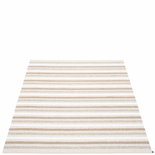 Pappelina Grace Plastic Rug - Fossil, 7 1/2' x 10 1/2'