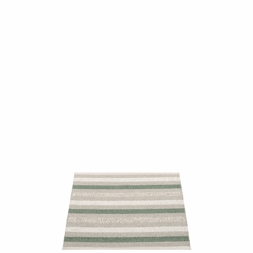 Pappelina Grace Plastic Rug - Warm Grey, 2 1/4' x 2'