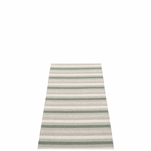 Pappelina Grace Plastic Rug - Warm Grey, 2 1/4' x 4 1/2'