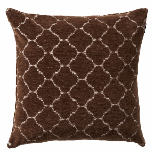 Hjordis Cotton Chenille Cushion Cover, Chocolate