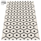 Honey Plastic Rug - Black/Vanilla, 2 1/4' x 5 1/4'