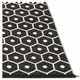 Honey Plastic Rug - Black/Vanilla, 6' x 8 1/2'
