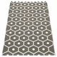 Honey Plastic Rug - Charcoal/Vanilla, 2 1/4' x 7 1/2'