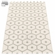 Honey Plastic Rug - Warm Grey/Vanilla, 2 1/4' x 11 1/2'