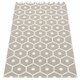 Honey Plastic Rug - Warm Grey/Vanilla, 2 1/4' x 3 1/4'