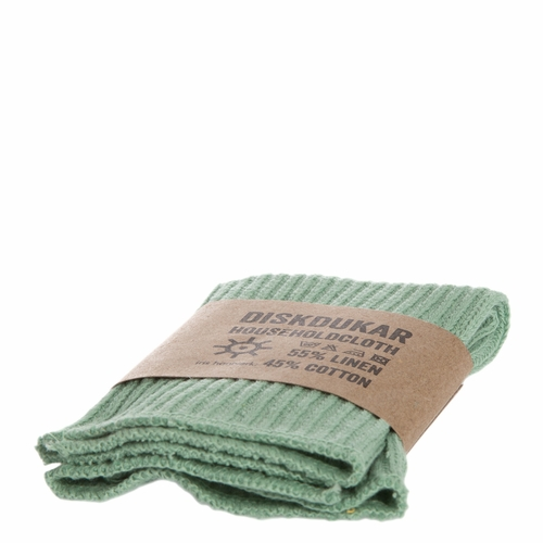Iris Hantverk Household Cloth in Frosty Green