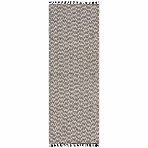 Horredsmattan Washable Swedish Cotton Blend Rug - Colette Graphite - 15 Sizes