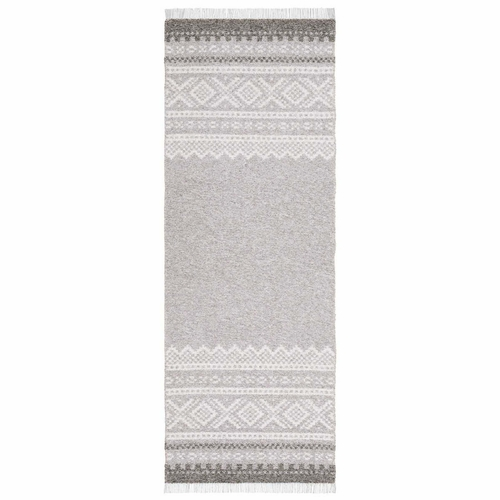 Horredsmattan Washable Swedish Cotton Blend Rug - Mette Grey - 4 Sizes